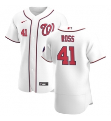 Washington Nationals 41 Joe Ross Men Nike White Home 2020 Authentic Player MLB Jersey