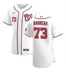 Washington Nationals 73 Tres Barrera Men Nike White Home 2020 Authentic Player MLB Jersey