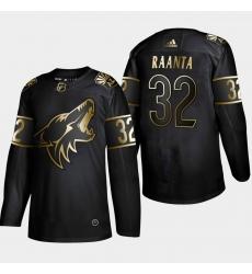 Coyotes 32 Antti Raanta Black Gold Adidas Jersey