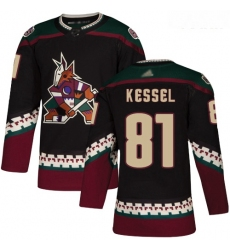 Coyotes #81 Phil Kessel Black Alternate Authentic Stitched Youth Hockey Jersey