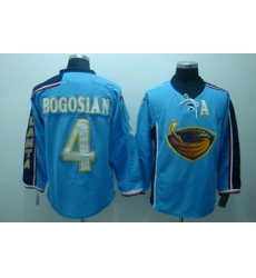 Atlanta Thrashers 4 Zach Bogosian Blue Jerseys With C Patch