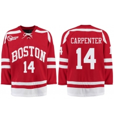 Boston University Terriers BU 14 Bobo Carpenter Red Stitched Hockey Jersey