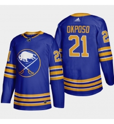 Buffalo Sabres 21 Kyle Okposo Men Adidas 2020 21 Home Authentic Player Stitched NHL Jersey Royal Blue