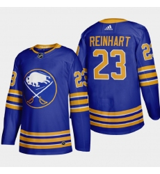 Buffalo Sabres 23 Sam Reinhart Men Adidas 2020 21 Home Authentic Player Stitched NHL Jersey Royal Blue