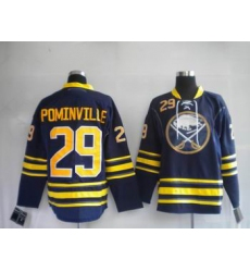 Buffalo Sabres #29 Jason Pominville Dark BLUE