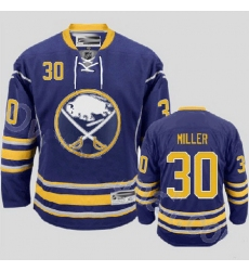 Buffalo Sabres 30 Ryan Miller Stitched Blue Third Jersey