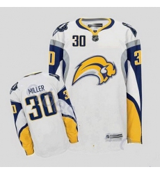 Buffalo Sabres 30 Ryan Miller Stitched White Road Jersey