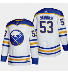 Buffalo Sabres 53 Jeff Skinner Men Adidas 2020 21 Away Authentic Player Stitched NHL Jersey White