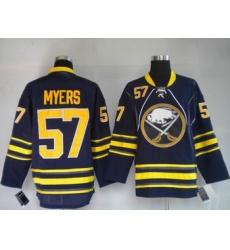 Buffalo Sabres #57 Tyler Myers dark blue