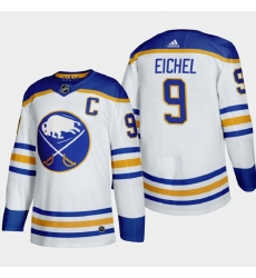 Buffalo Sabres 9 Jack Eichel Men Adidas 2020 21 Away Authentic Player Stitched NHL Jersey White