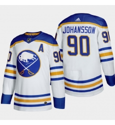 Buffalo Sabres 90 Marcus Johansson Men Adidas 2020 21 Away Authentic Player Stitched NHL Jersey White