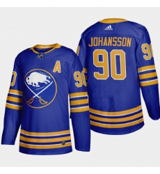 Buffalo Sabres 90 Marcus Johansson Men Adidas 2020 21 Home Authentic Player Stitched NHL Jersey Royal Blue