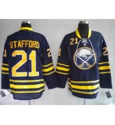 Buffalo Sabres Drew Stafford #21 dark BLUE