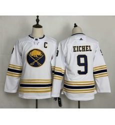 Youth Sabres 9 Jack Eichel White 50th Anniversary Adidas Jersey