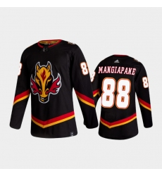 Men Calgary Flames 88 Andrew Mangiapane Reverse Retro 2020 21 Black Authentic Jersey