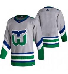Men Carolina Hurricanes Blank Grey Adidas 2020 21 Reverse Retro Alternate NHL Jersey