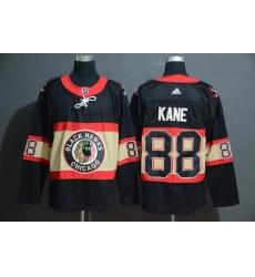 Blackhawks 88 Patrick Kane Premier Black New Third Adidas Jersey
