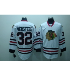 Chicago Blackhawks 32 Kris versteeg white Jersey
