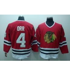 Chicago Blackhawks 4 Bobby Orr Red Jerseys