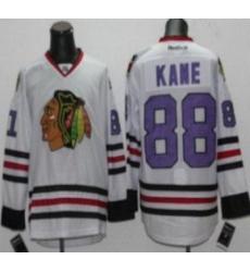 Chicago Blackhawks 88 Patrick Kane White NHL Jerseys Purple Number