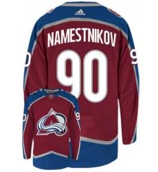 Men Colorado Avalanche 90 Vladislav Namestnikov Red Adidas Jersey