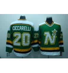 Dalls Stars 20 ciccarelli Green jerseys CCM