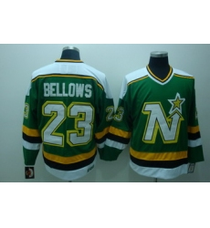Dalls Stars 23 Brian Bellows Green Jerseys CCM