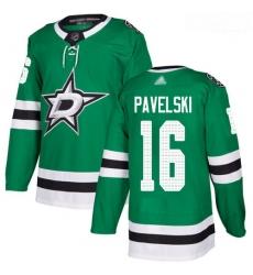 Stars #16 Joe Pavelski Green Home Authentic Stitched Hockey Jersey