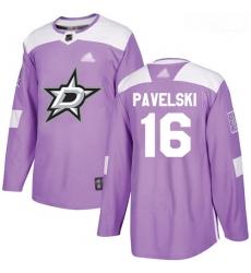 Stars #16 Joe Pavelski Purple Authentic Fights Cancer Stitched Hockey Jersey