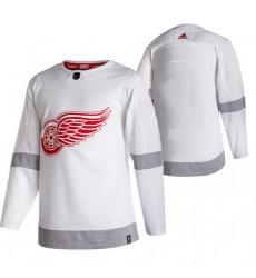 Men Detroit Red Wings Blank White Adidas 2020 21 Reverse Retro Alternate NHL Jersey
