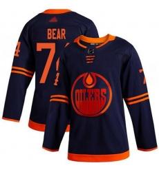 Men Edmonton Oilers 74 Ethan Bear Navy Adidas Jersey