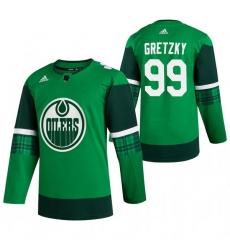Men Edmonton Oilers 99 Wayne Gretzky Green 2020 Adidas Jersey