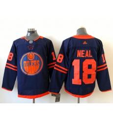 Men Edmonton Oilers James Neal 18 Adidas 2020 21 Reverse Retro Alternate NHL Jersey