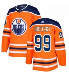 Mens Adidas Edmonton Oilers 99 Wayne Gretzky Premier Orange Home NHL Jersey