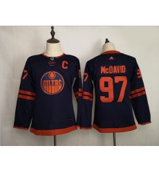 Youth Oilers 97 Connor McDavid Navy 50th Anniversary Adidas Jersey
