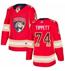 Mens Adidas Florida Panthers 74 Owen Tippett Authentic Red Drift Fashion NHL Jersey