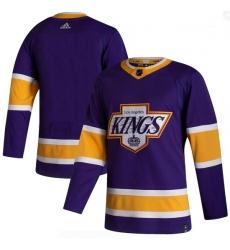 Men Los Angeles Kings Blank Purple 2020 21 Reverse Retro Adidas Jersey