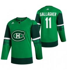 Men Montreal Canadiens 11 Brendan Gallagher Green 2020 Adidas Jersey