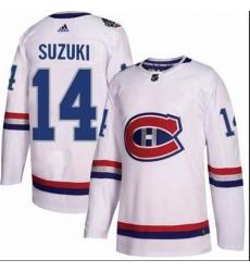 Men Montreal Canadiens 14 Nick Suzuki White Adidas Jersey