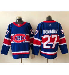 Men Montreal Canadiens ALEXANDER ROMANOV 27 2020 21 Blue Reverse Retro Alternate NHL Jersey
