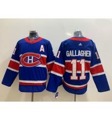Montreal Canadiens 11 Brendan Gallagher Blue 2020 21 Reverse Retro Ad