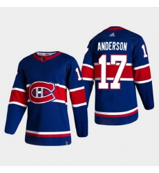Montreal Canadiens 17 Josh Anderson Reverse Retro 2020 21 Authentic Blue Jersey