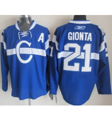 Montreal Canadiens 21 Brian Gionta Blue NHL Jerseys[patch A]