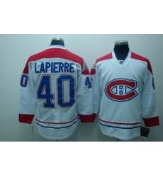 Montreal Canadiens 40 Maxim Lapierre White Jerseys CH