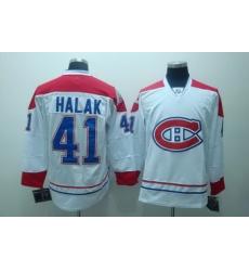 Montreal Canadiens  41 Jaroslav Halak  white Jersey CH