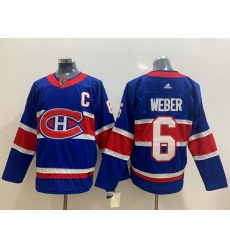 Montreal Canadiens 6 Shea Weber Blue 2020 21 Reverse Retro Ad