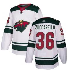 Men Adidas Wild 36 Mats Zuccarello White NHL jersey