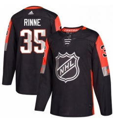 Mens Adidas Nashville Predators 35 Pekka Rinne Authentic Black 2018 All Star Central Division NHL Jersey