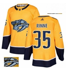 Mens Adidas Nashville Predators 35 Pekka Rinne Authentic Gold Fashion Gold NHL Jersey
