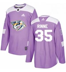 Mens Adidas Nashville Predators 35 Pekka Rinne Authentic Purple Fights Cancer Practice NHL Jersey